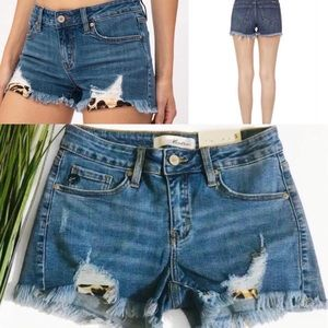 Kancans shorts with leopard pockets